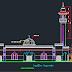 مشروع مسجد كبير بواجهة جميلة اوتوكاد dwg