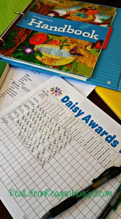Girl Scout Daisy Award Tracker