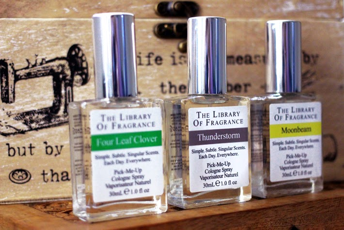 A beauty blogger reviews the Library of Fragrance Four Leaf Clover, Moonbeam and Thunderstorm