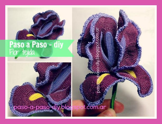 cómo hacer una flor tejida paso a paso