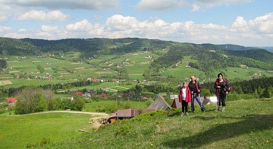 Nad doliną potoku Jastrzębik.