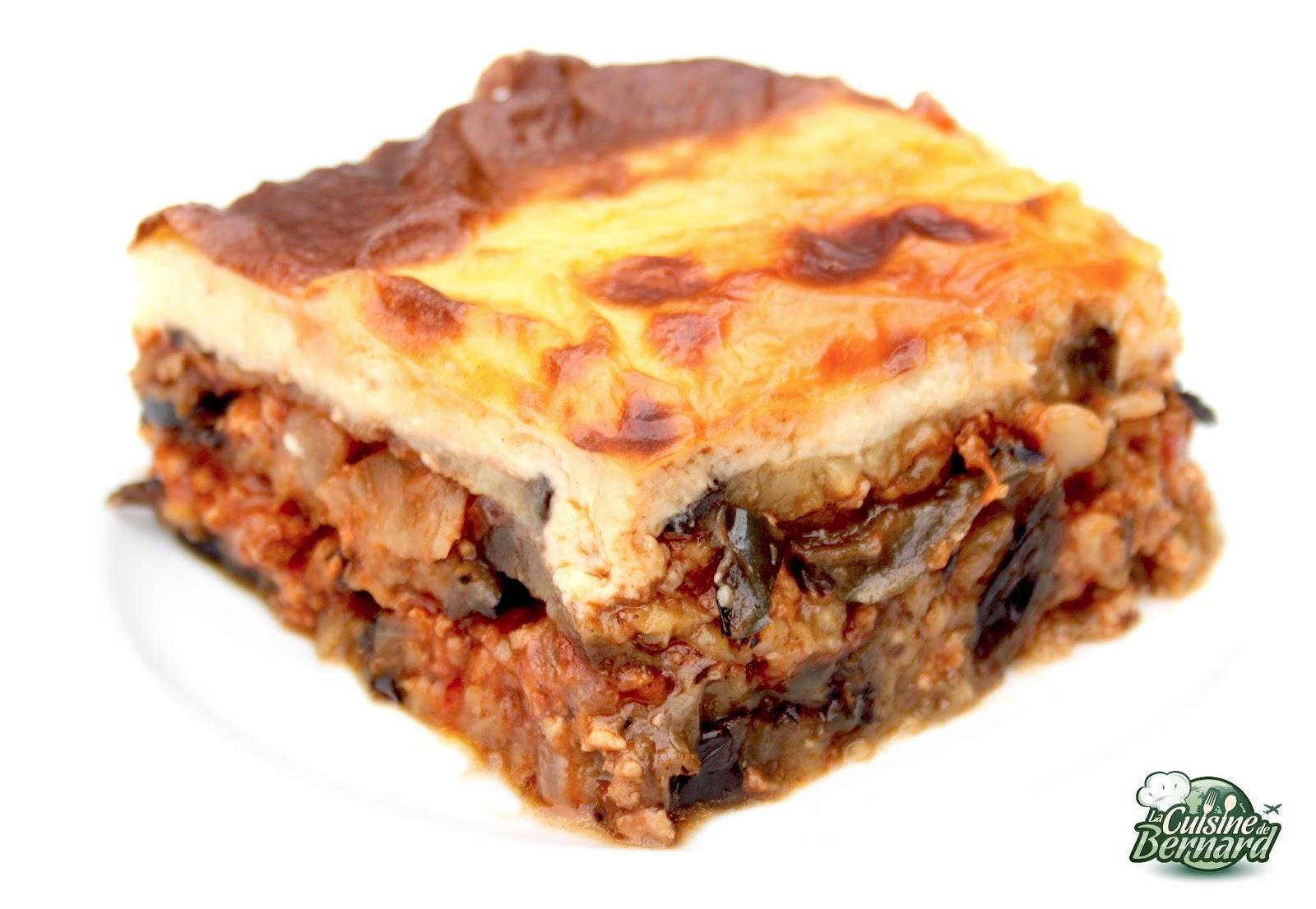 Moussaka Grecque La Cuisine De Bernard