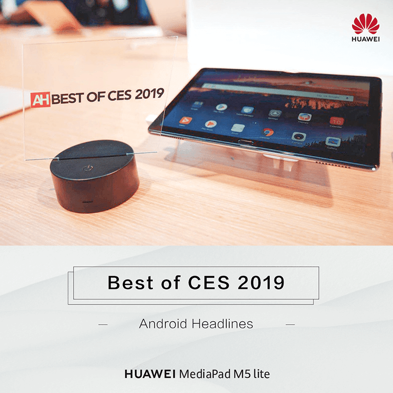 Huawei MediaPad M5 Lite hailed as the best Android tablet at CES 2019