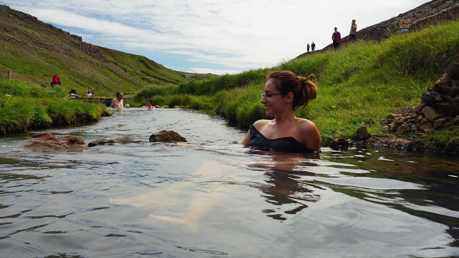 gorąca rzeka w Hveragerdi, gorące źródła, islandzkie gorące źródła,
