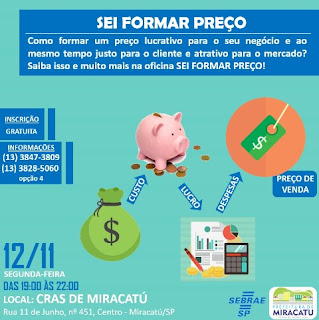 Sebrae Miracatu realiza oficina para microempreendedores
