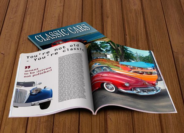 Magazine Mockup - FREE Three psd files,