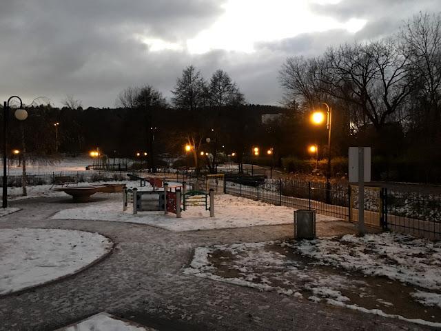 Park wieczorem - Gdynia