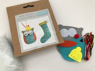 Felt owl crafting kit
