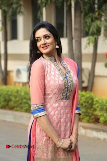 Actress Vimala Raman Stills in Beautiful Pink Salwar Kameez at (ONV) Om Namo Venkatesaya Press Meet  0120.JPG