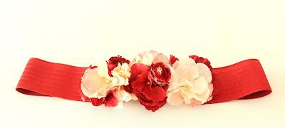 PV 2018 Rojo Nude Cinturon elastico flor
