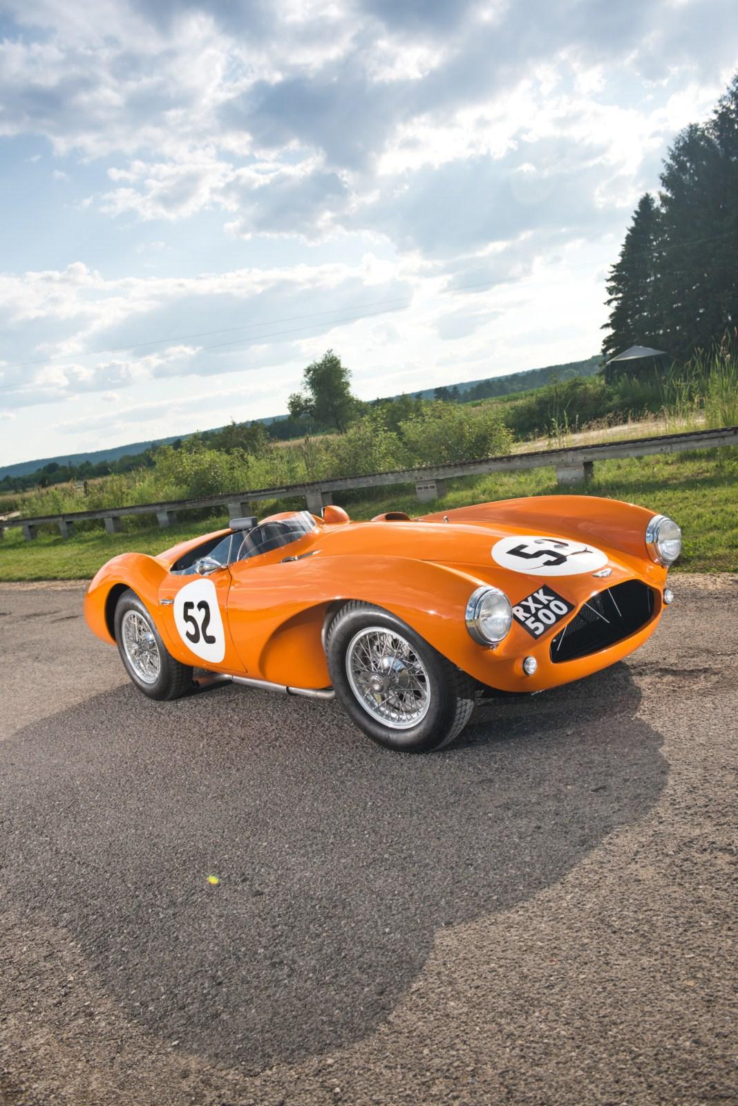sketchbook historic cars an orange car aston martin db3s sport racing 1955. Black Bedroom Furniture Sets. Home Design Ideas