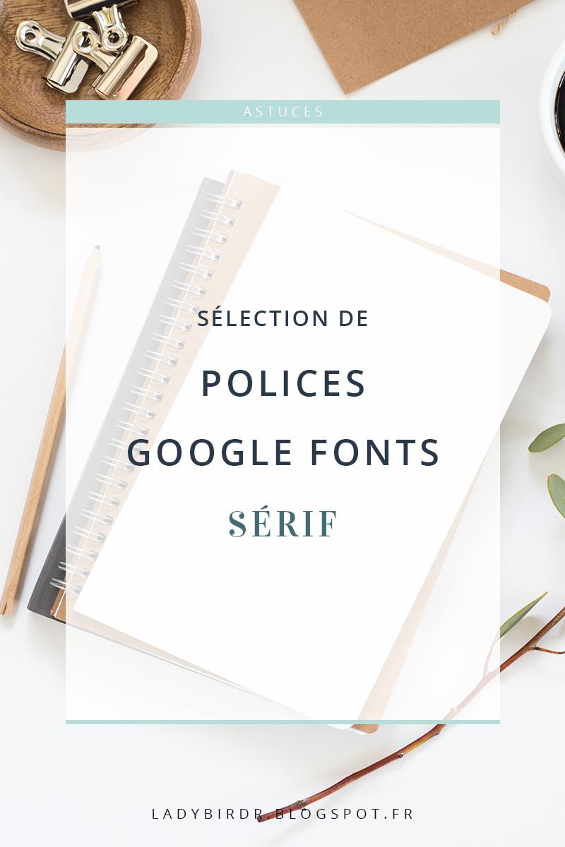 Sélection de polices serif sur Google Fonts