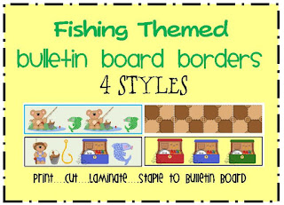 fishing themed bulletin board border