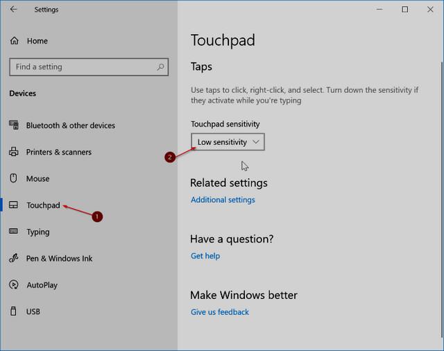 كيفية تعطيل لوحة اللمس Touchpad أثناء الكتابة في ويندوز 10