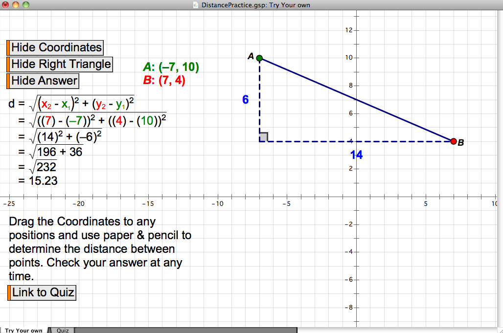 Engaging math geometer 39 s sketchpad practice distance for Sketchpad com