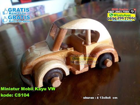 Miniatur Mobil Kayu Vw