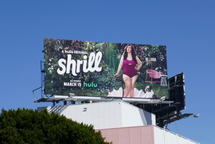 Shrill series launch billboard