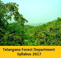 Telangana Forest Department Syllabus 2017