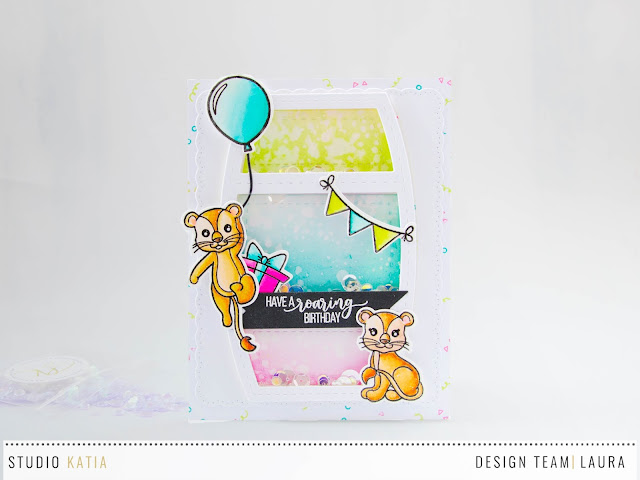 Birthday-Shaker-Card-feat-Studio-Katia-Birthday-Lions-Stand-Up