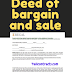 Deed of bargain and sale
