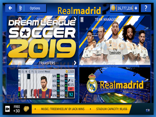 keren-dream-league-soccer-2019-mod-realmadrid-v611