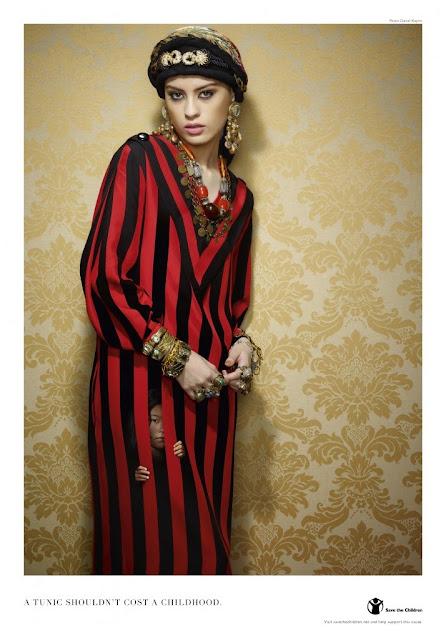 Vestido impreso - Alto a la explotación infantil en la industria de la moda