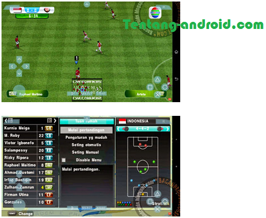Download PES 2015 ISO PSP Android (Emulator PPSSPP)