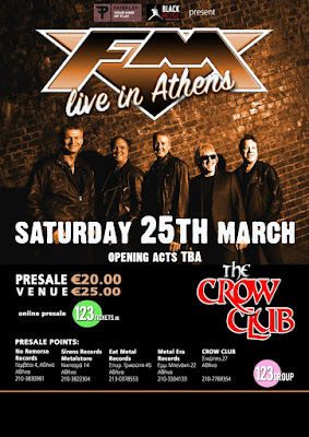 FM - Crow Club - Athens - Greece - poster