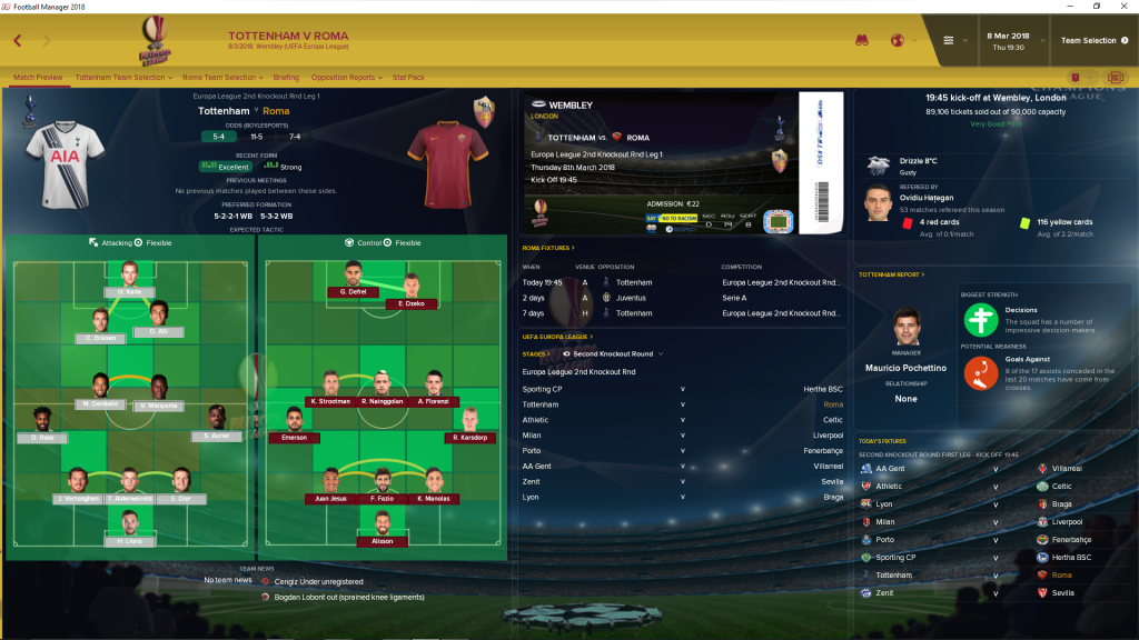 Champions League FM 2018 Skin