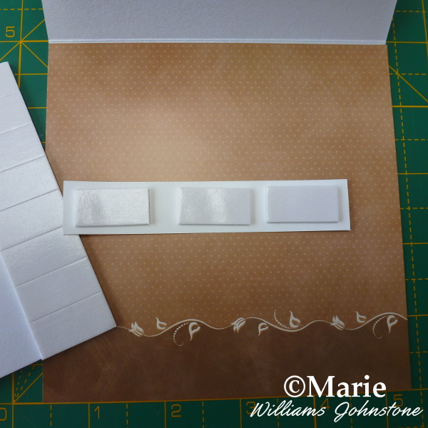 Sticking 3D foam prop into inside of basic easel card tutorial