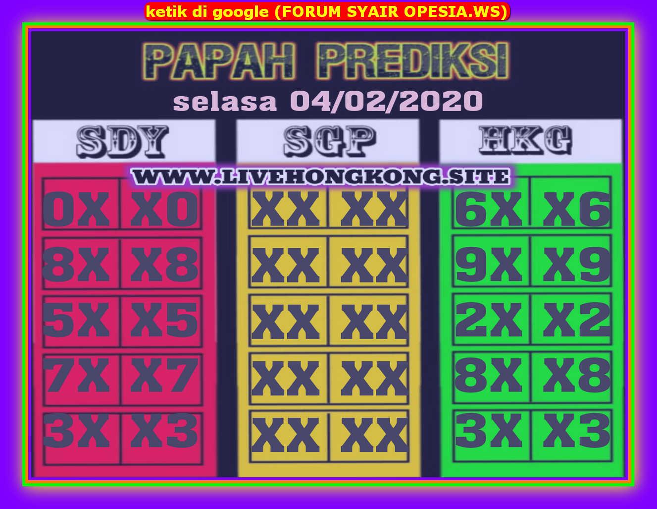 Kode syair Hongkong Selasa 4 Februari 2020 72