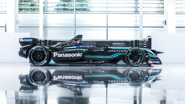 The Panasonic Jaguar Racing I-Type Formula E car