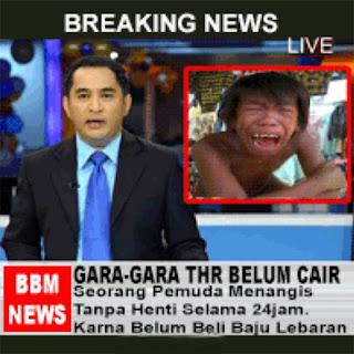 dp bbm lucu berita belum dapet thr