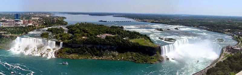 Unique Ariel View of Niagara Falls
