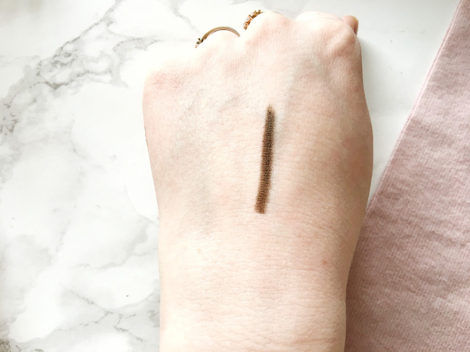 Maybelline Brow Definer Deep Brown Swatch