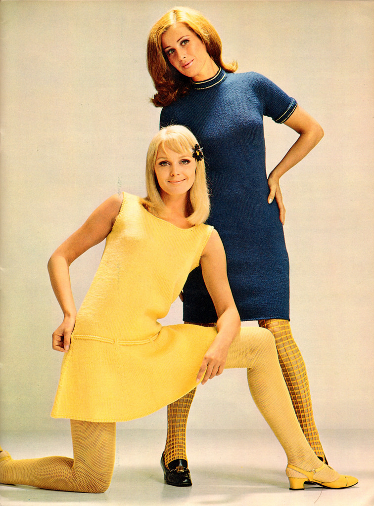 Beautiful Knitted Dress Fashion of the 1960s ~ vintage ...