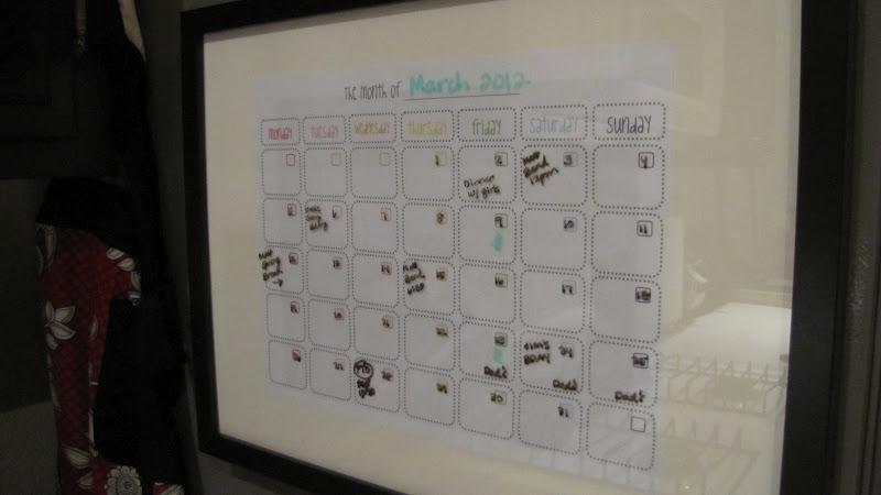 Adventures In Diy Dry Erase Calendar Take 2
