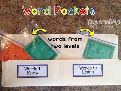 Sight word activities sight word pockets
