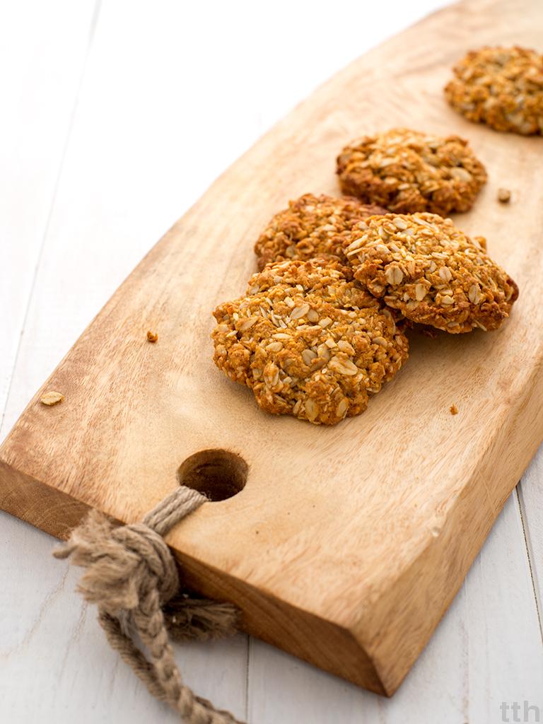 Wegańskie Anzac biscuits ciasteczka owsiane kokosowe roślinny blog kulinarny