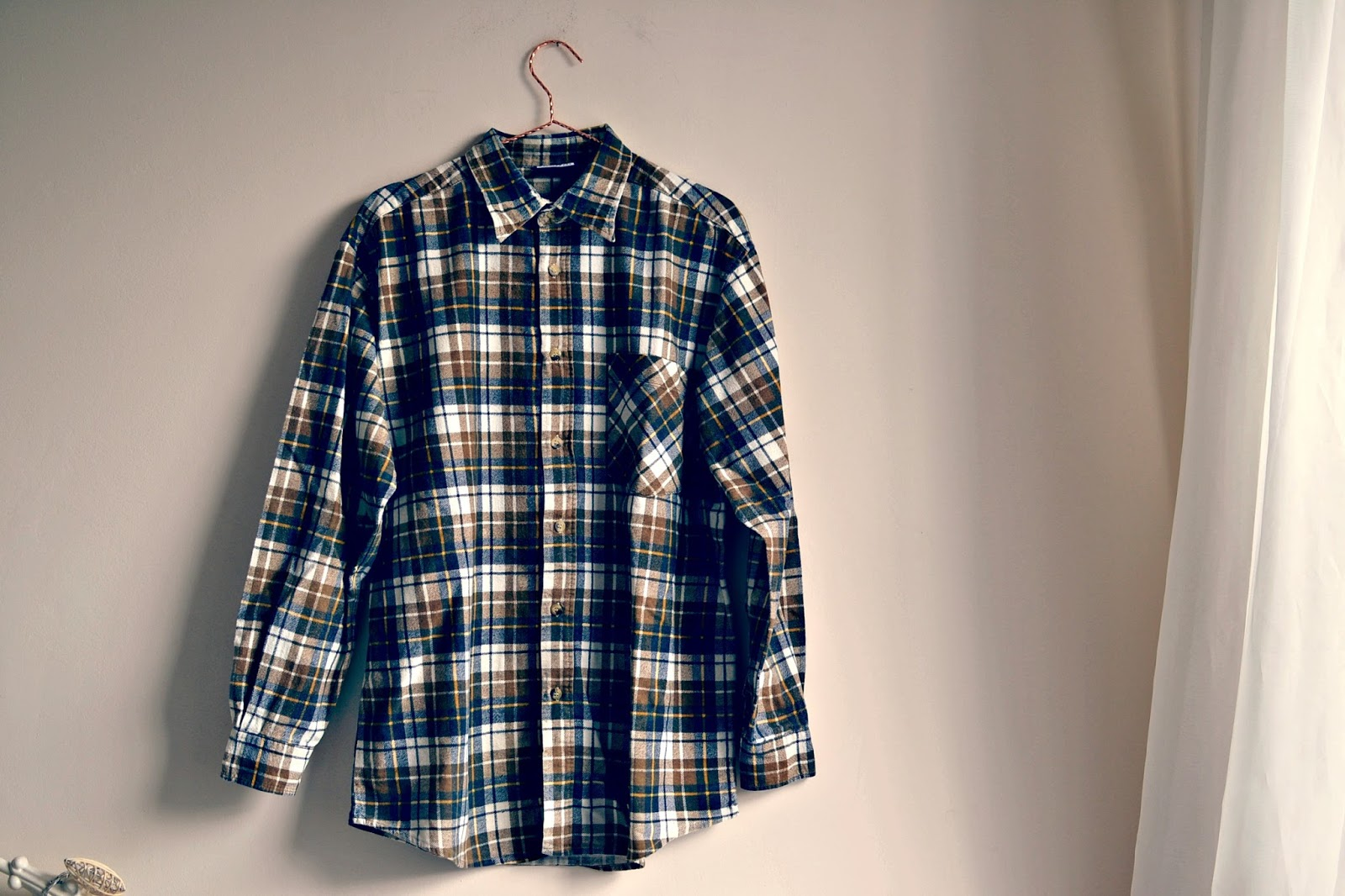 vintage kilo flannel checked shirt