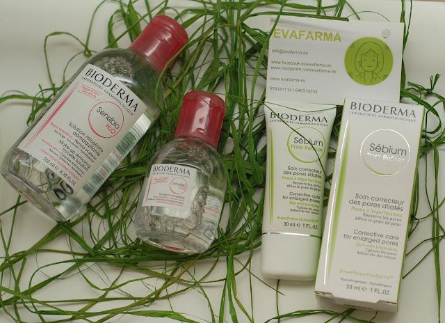 Productos de Bioderma que nos trajo Evafarma
