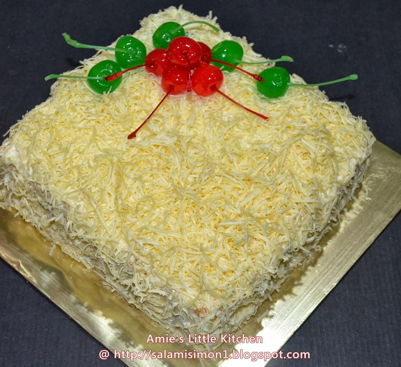 Resepi Snow Cheese Cake - AMIE'S LITTLE KITCHEN