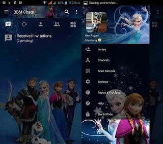 BBM MOD Frozen v3.2.5.12 Terbaru Gratis