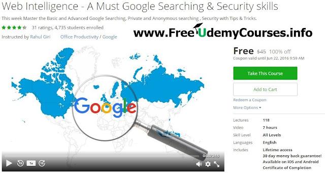 100 Off Udemy Course Web Intelligence