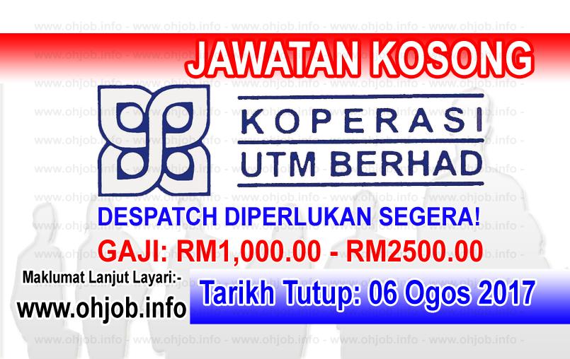 Jawatan Kerja Kosong Koperasi UTM Berhad logo www.ohjob.info ogos 2017