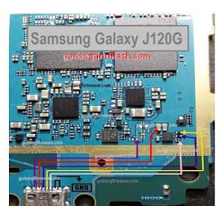 Jalur USB Charger Samsung Galaxy J1 2016 4G ( SM-J120G )