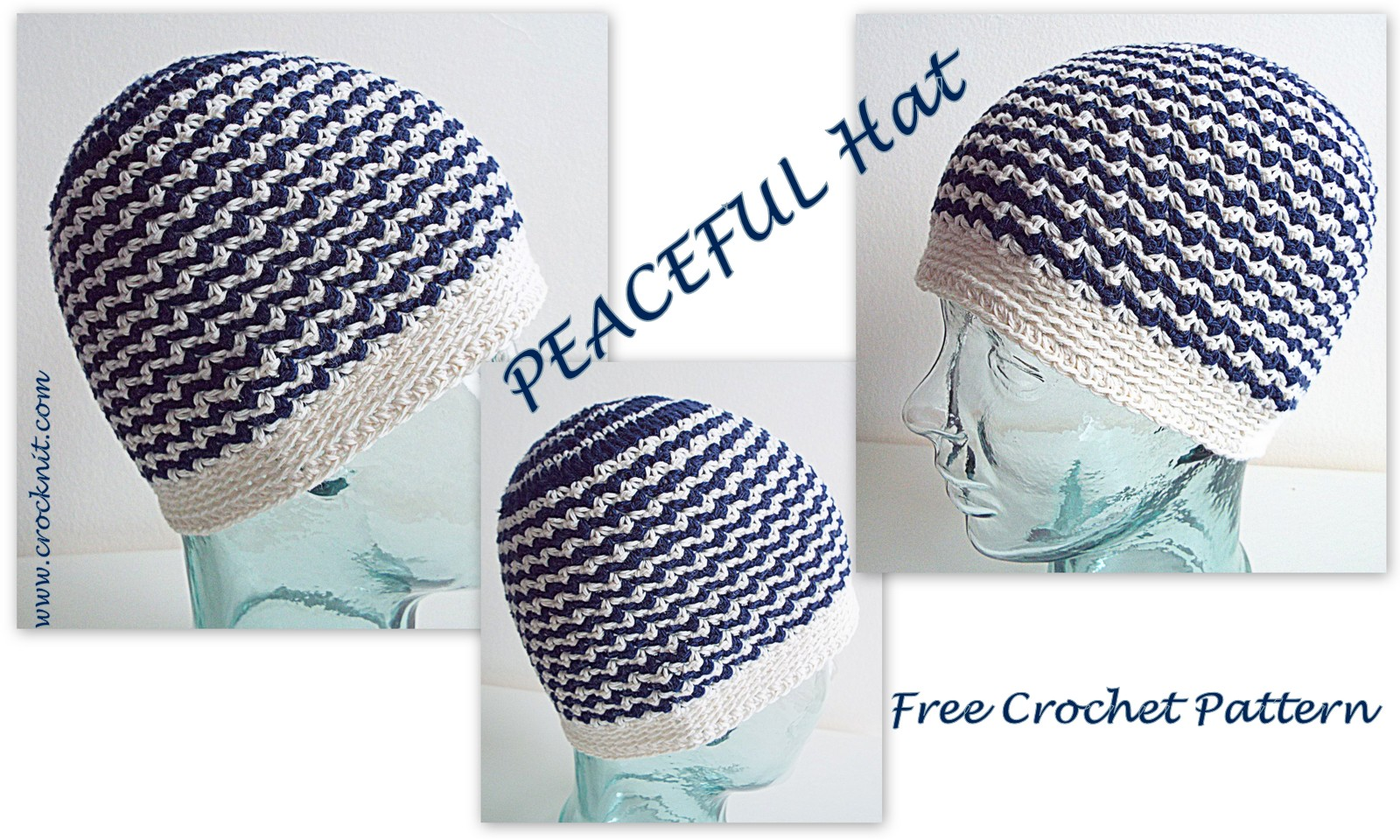 MICROCKNIT CREATIONS: SLEEP Hats Free Crochet Pattern #3 PEACEFUL HAT