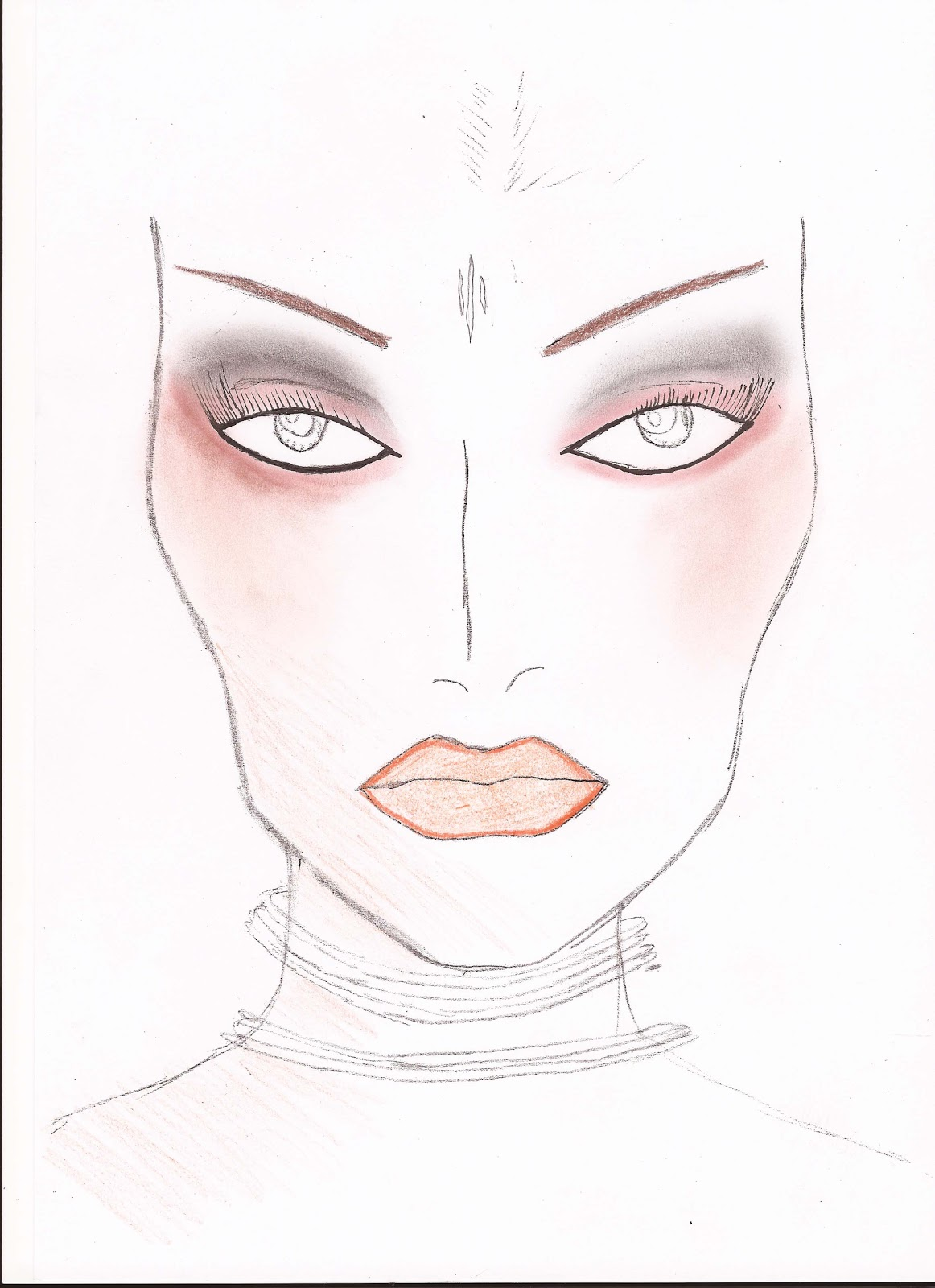 Eyeshadow Template: Preparation For A Makeup Job: Template Drawing