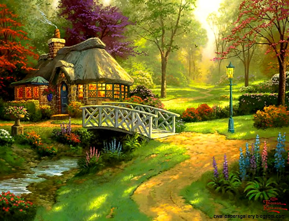 fantasy cottage wallpaper wallpapers gallery