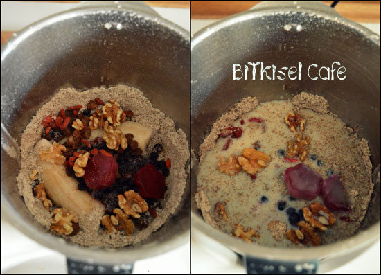 Oat Blueberry Breakfast Smoothie with Thermomix